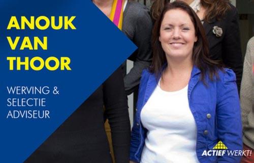Anouk stelt zich voor: W&S consulent bij Actief Werkt!